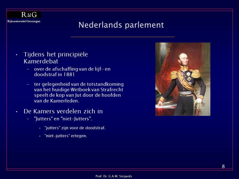 Nederlands parlement Tijdens het principiële Kamerdebat