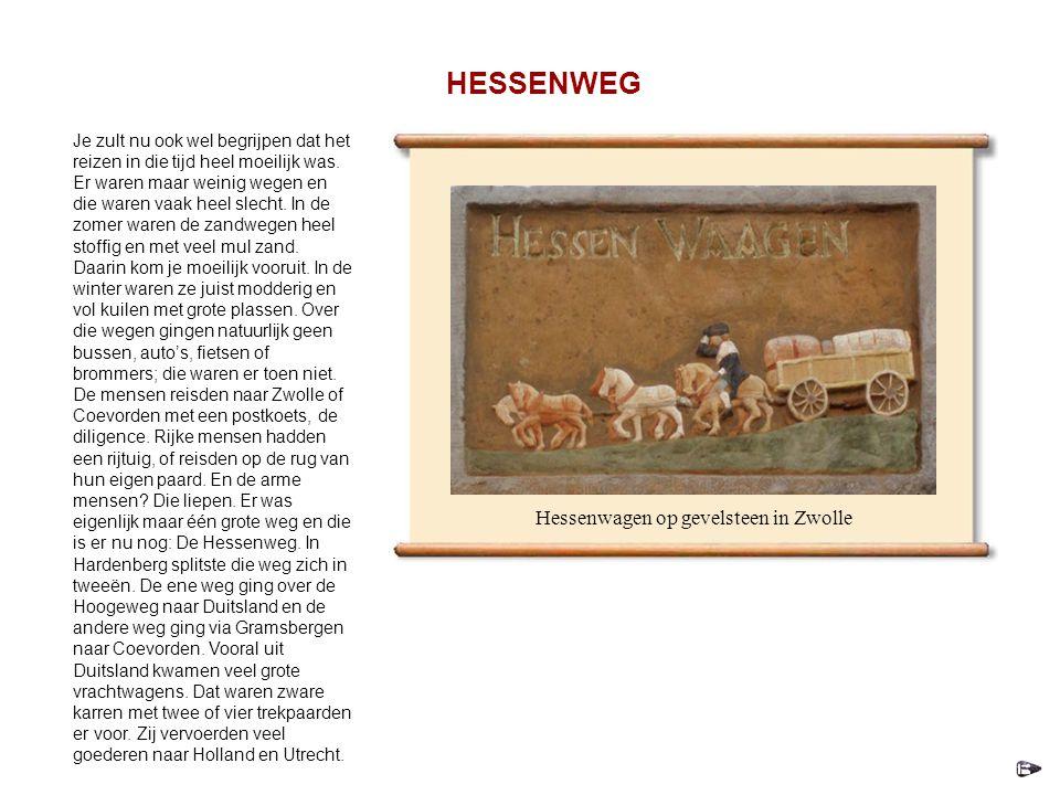 Hessenwagen op gevelsteen in Zwolle