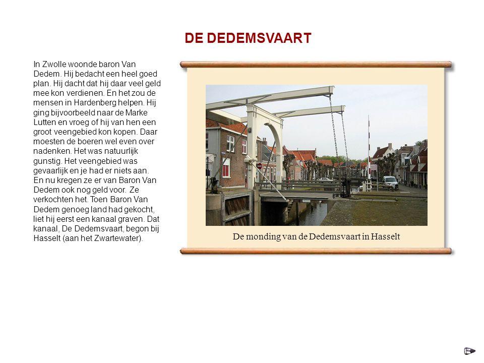 De monding van de Dedemsvaart in Hasselt