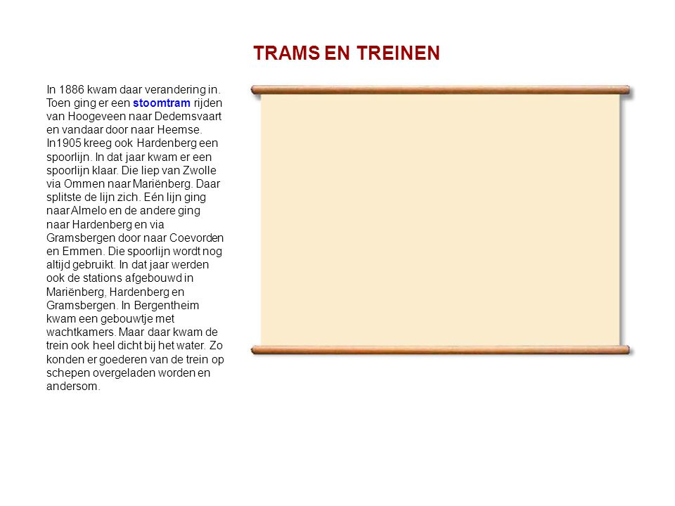 TRAMS EN TREINEN