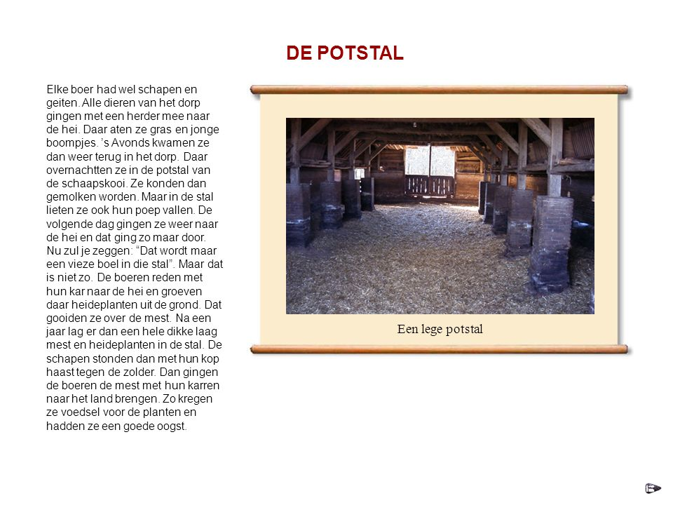 DE POTSTAL Een lege potstal