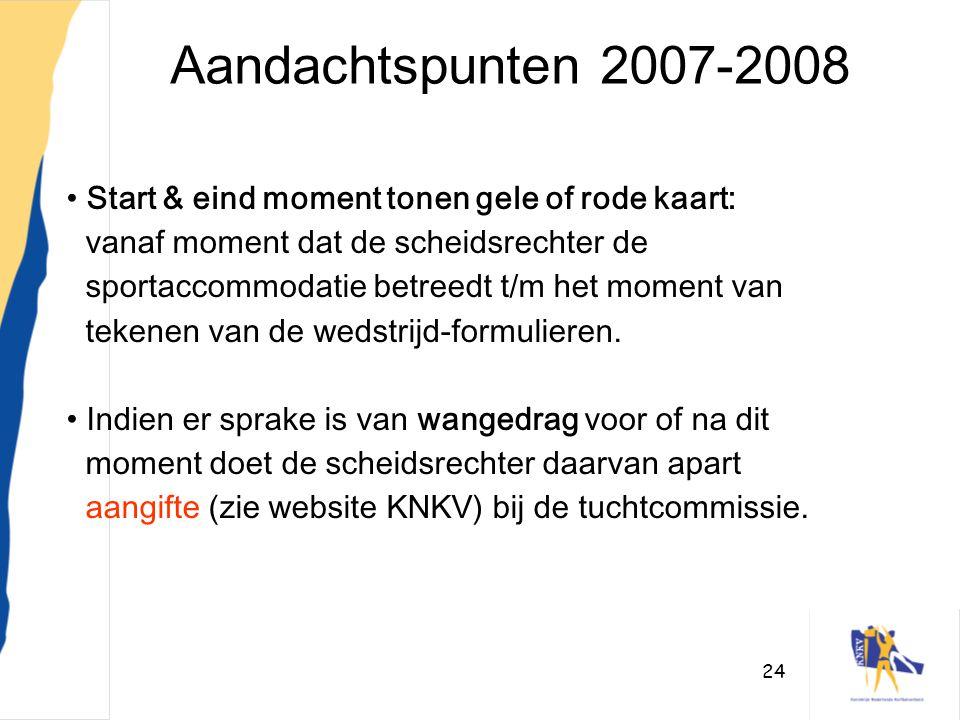 Aandachtspunten 2007-2008