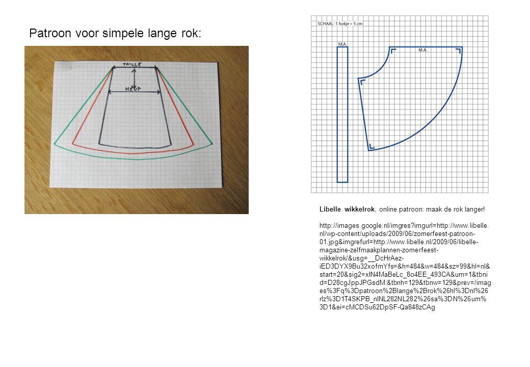 Patroon voor simpele lange rok: