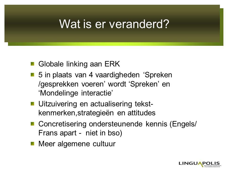 Wat is er veranderd Globale linking aan ERK