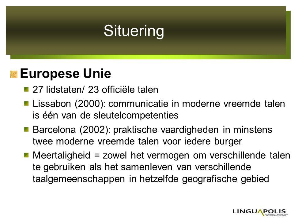 Situering Europese Unie 27 lidstaten/ 23 officiële talen