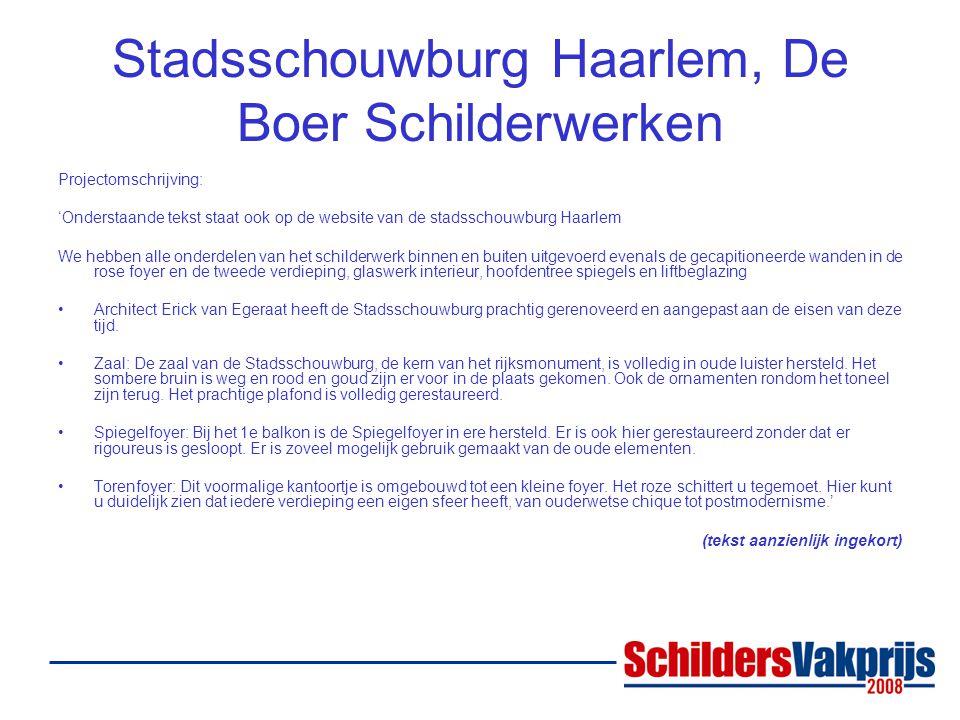 Stadsschouwburg Haarlem, De Boer Schilderwerken
