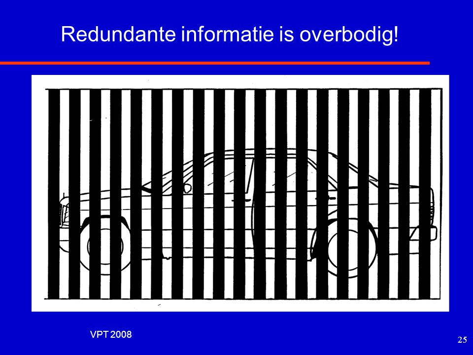 Redundante informatie is overbodig!