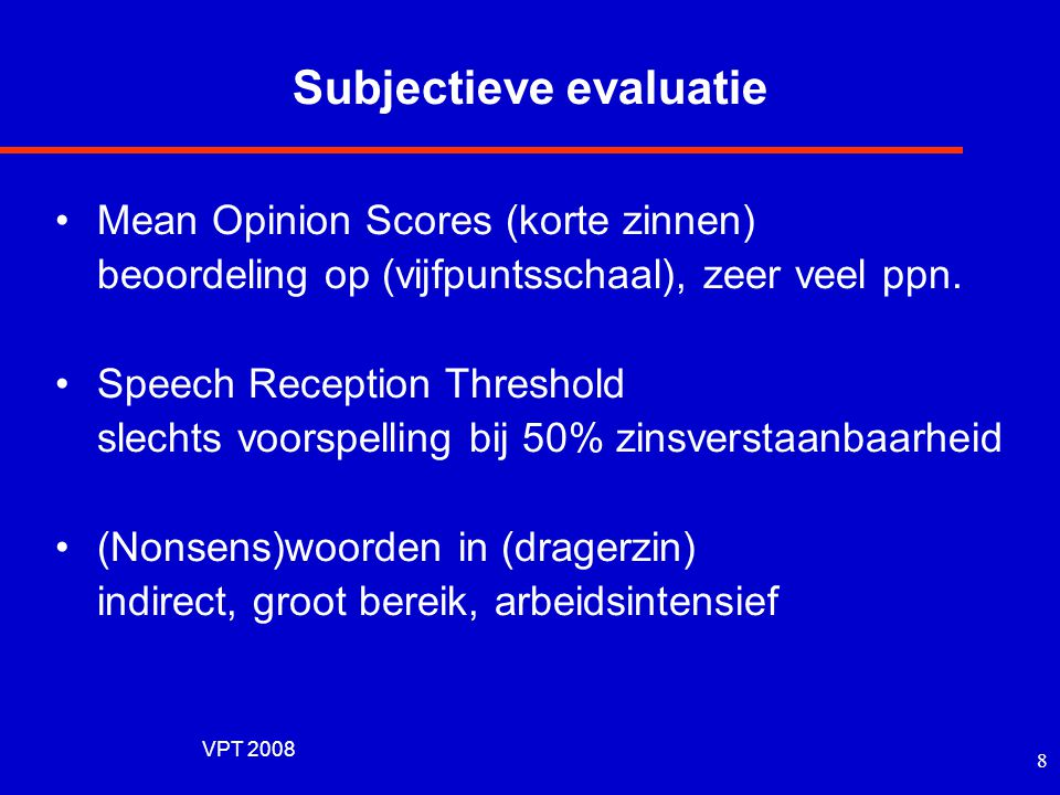 Subjectieve evaluatie