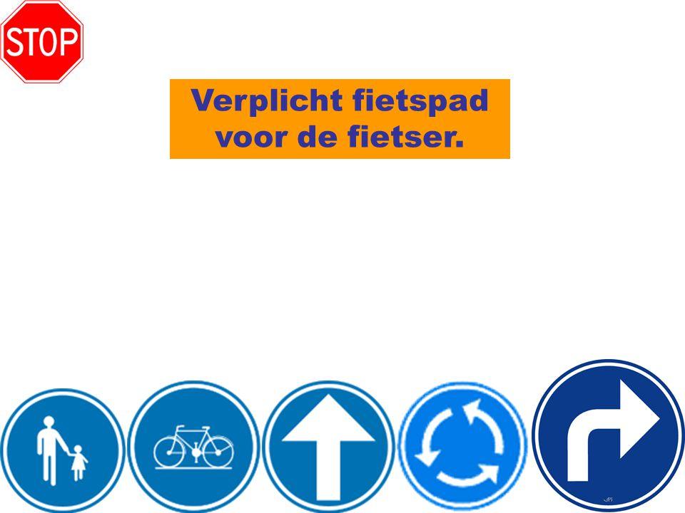 Verplicht fietspad voor de fietser.