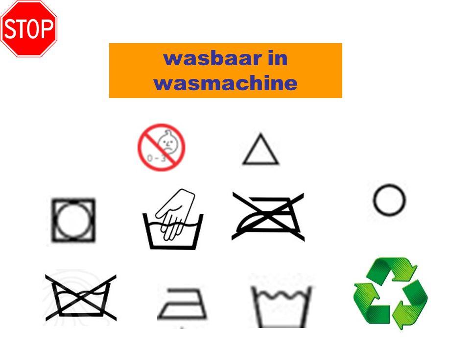 wasbaar in wasmachine