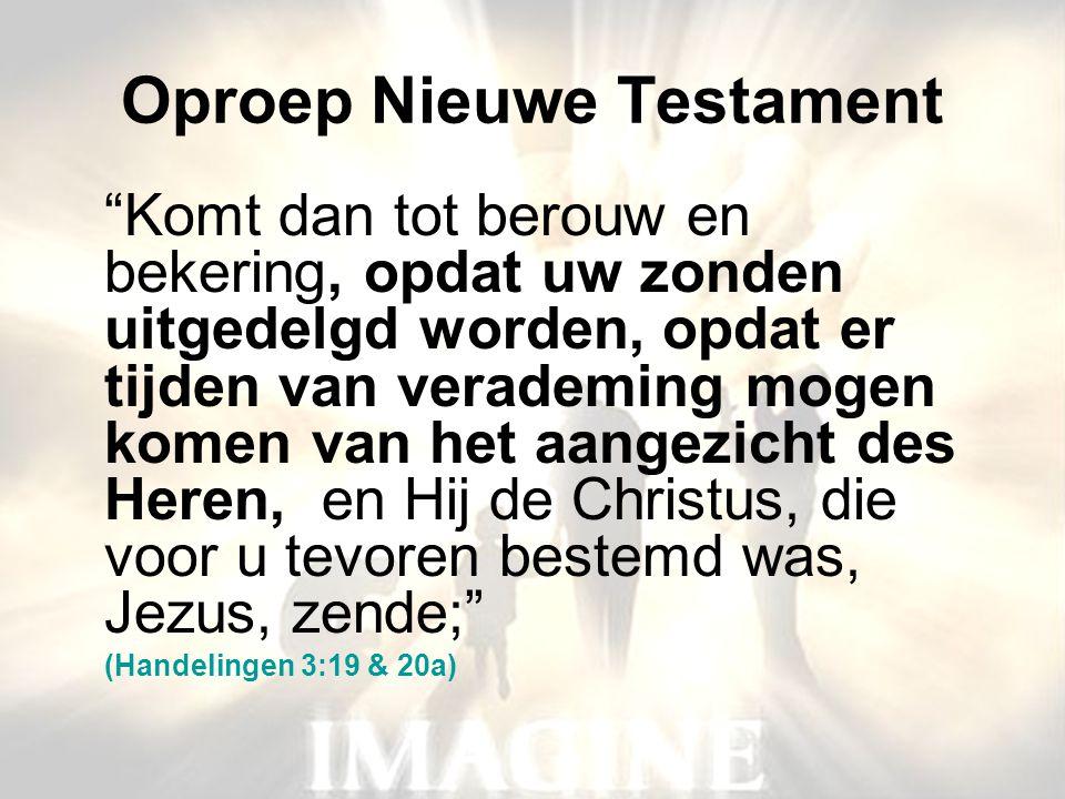 Oproep Nieuwe Testament