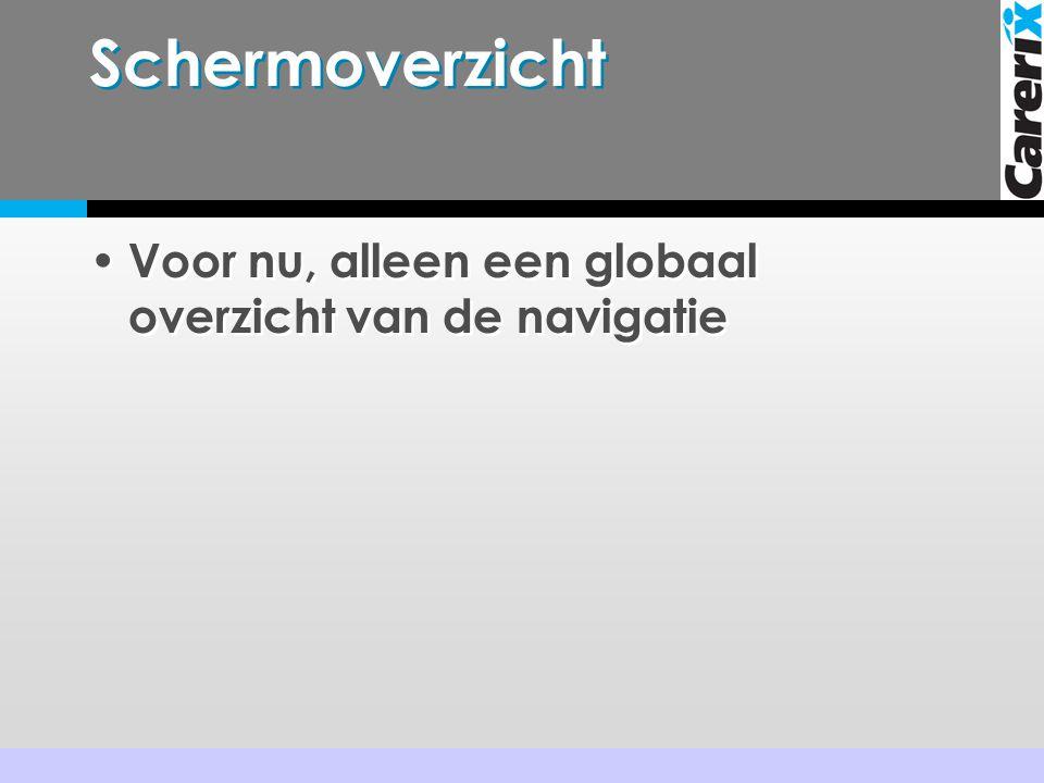 Schermoverzicht Voor nu, alleen een globaal overzicht van de navigatie