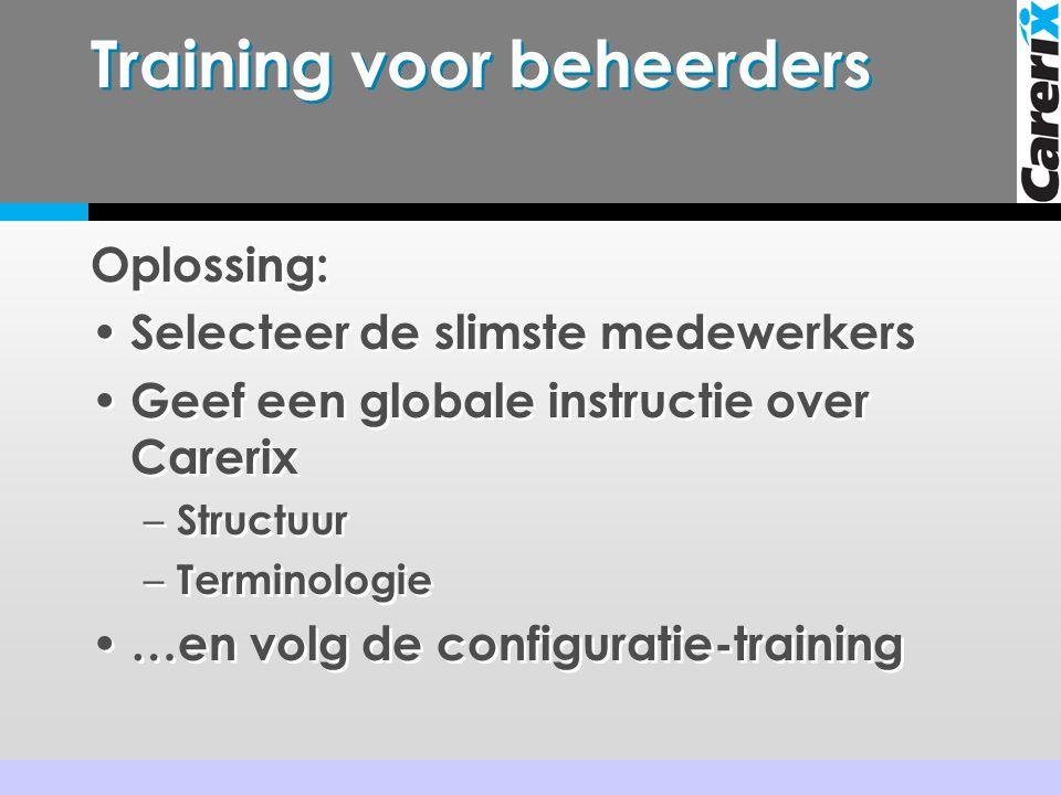 Training voor beheerders