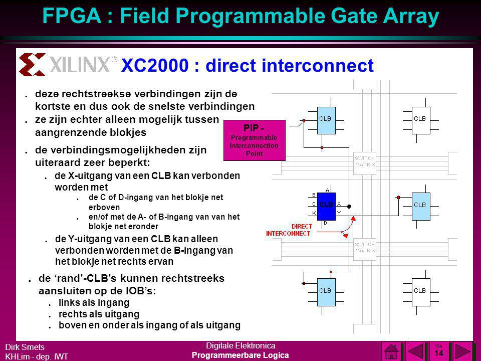 XC2000 : direct interconnect