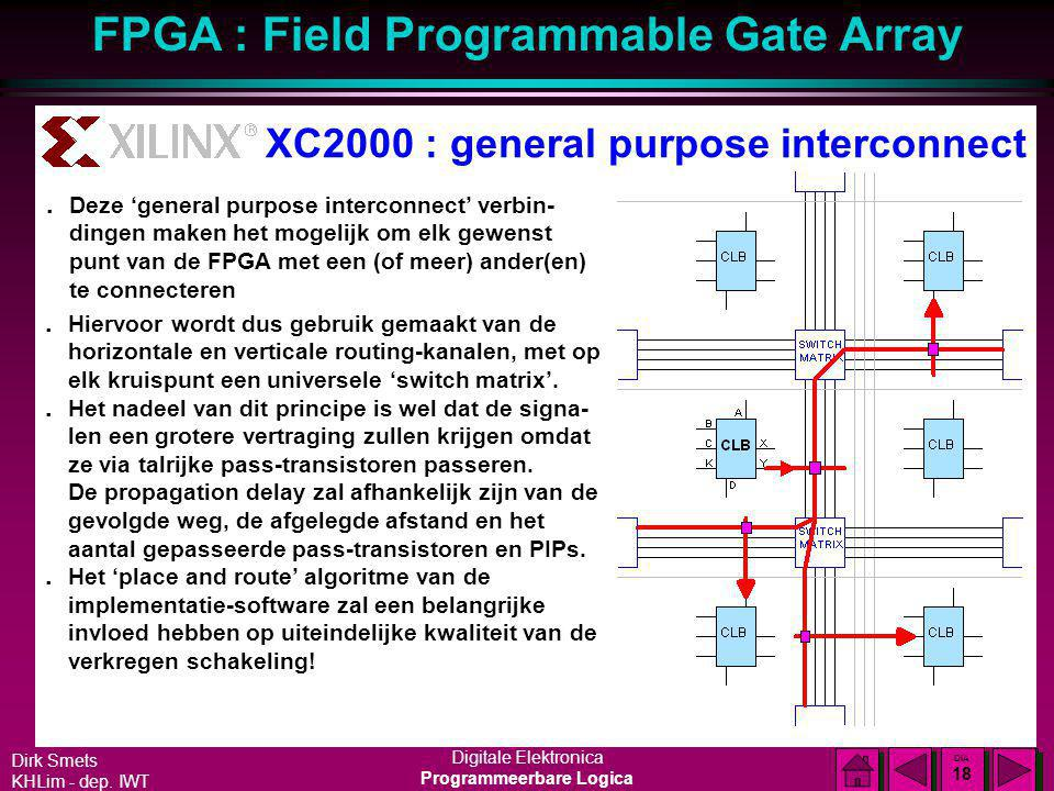 XC2000 : general purpose interconnect