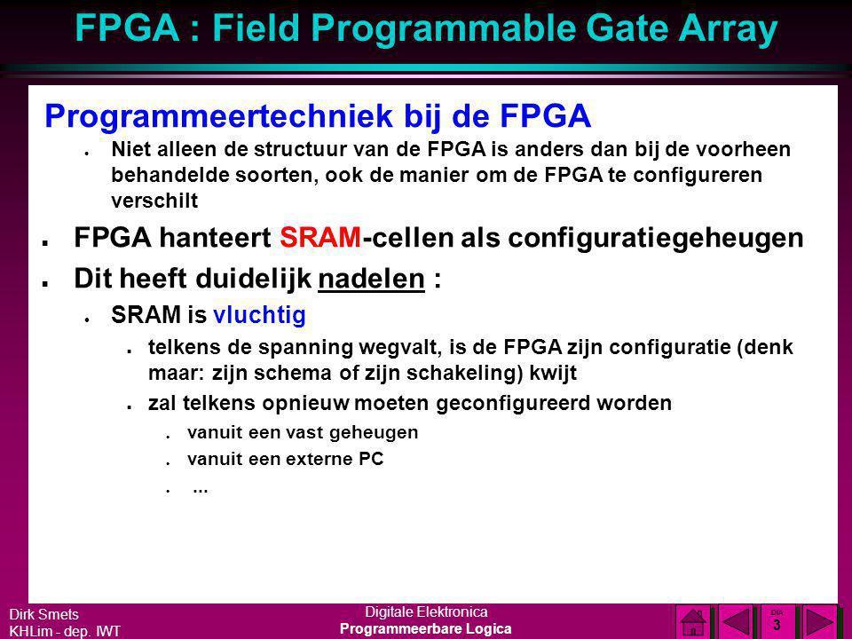 Programmeertechniek bij de FPGA