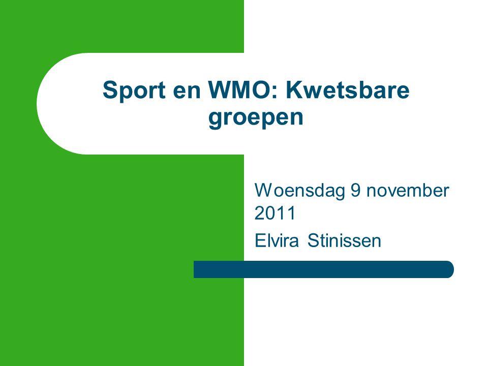 Sport en WMO: Kwetsbare groepen