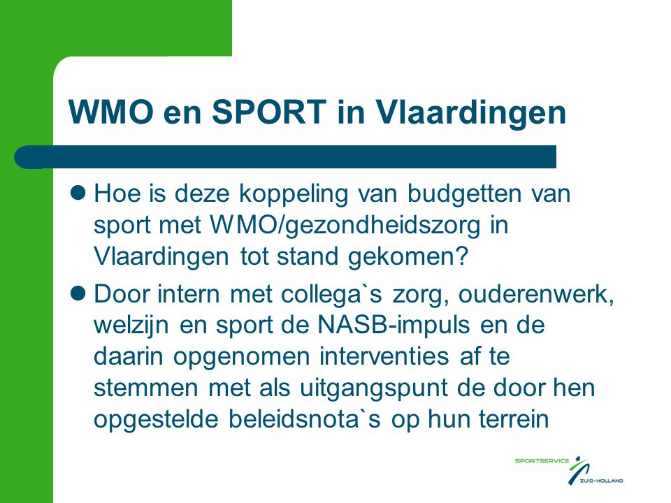 WMO en SPORT in Vlaardingen