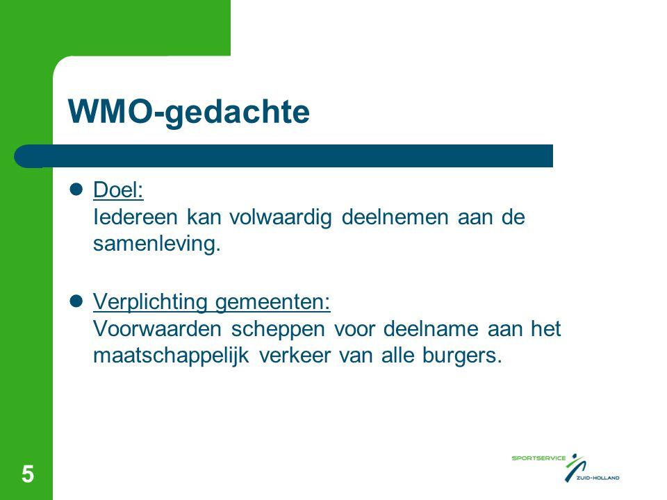 WMO-gedachte Doel: Iedereen kan volwaardig deelnemen aan de samenleving.
