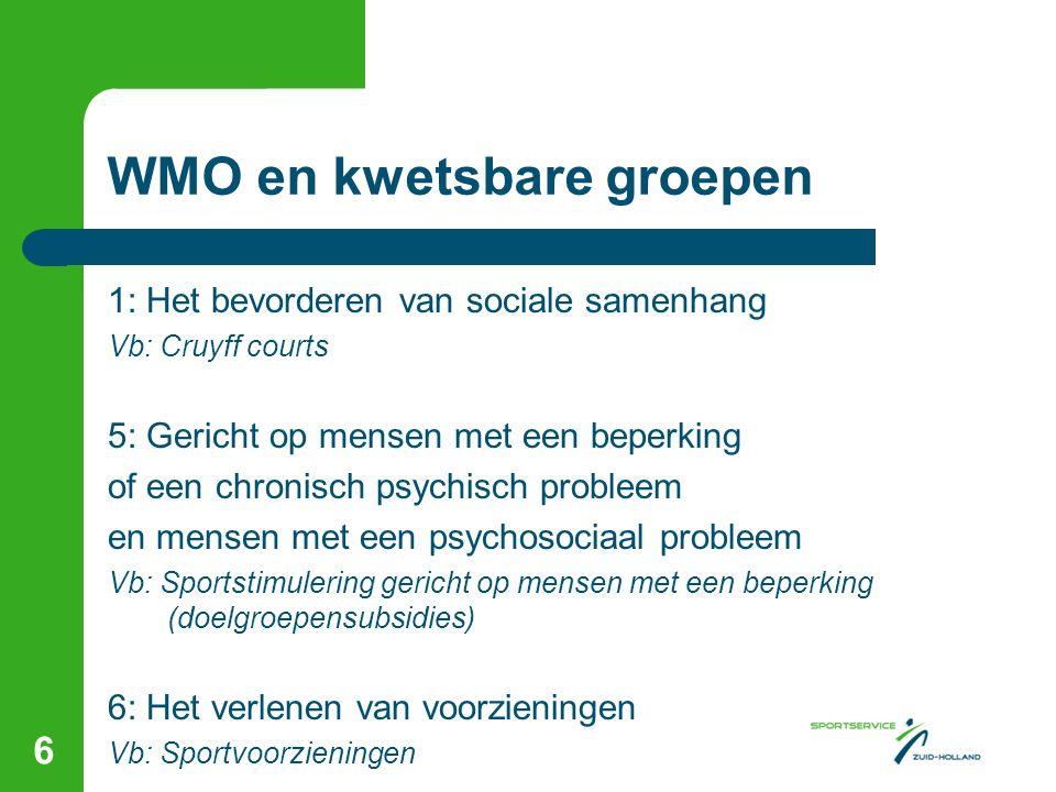 WMO en kwetsbare groepen