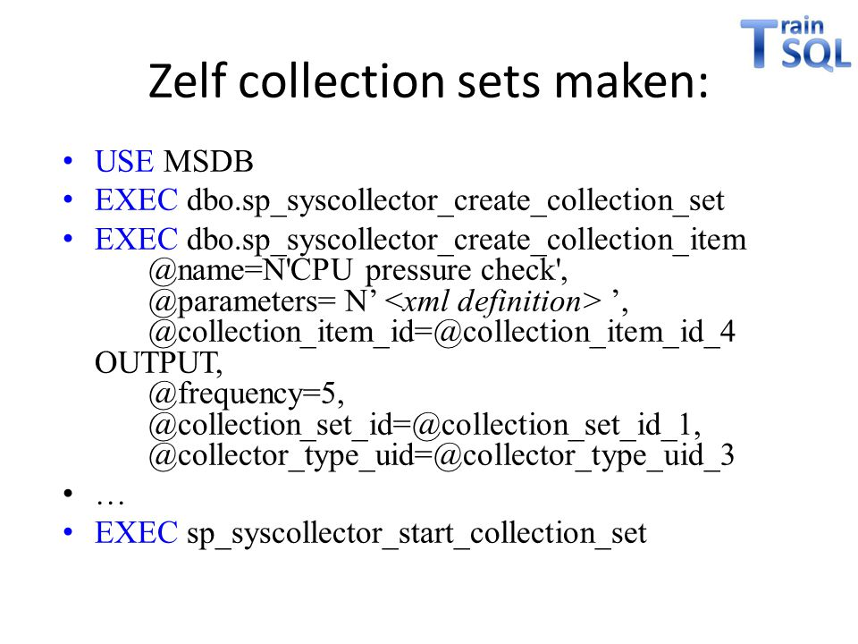 Zelf collection sets maken: