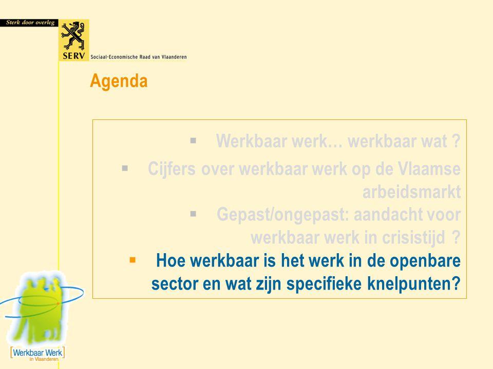 Agenda Werkbaar werk… werkbaar wat