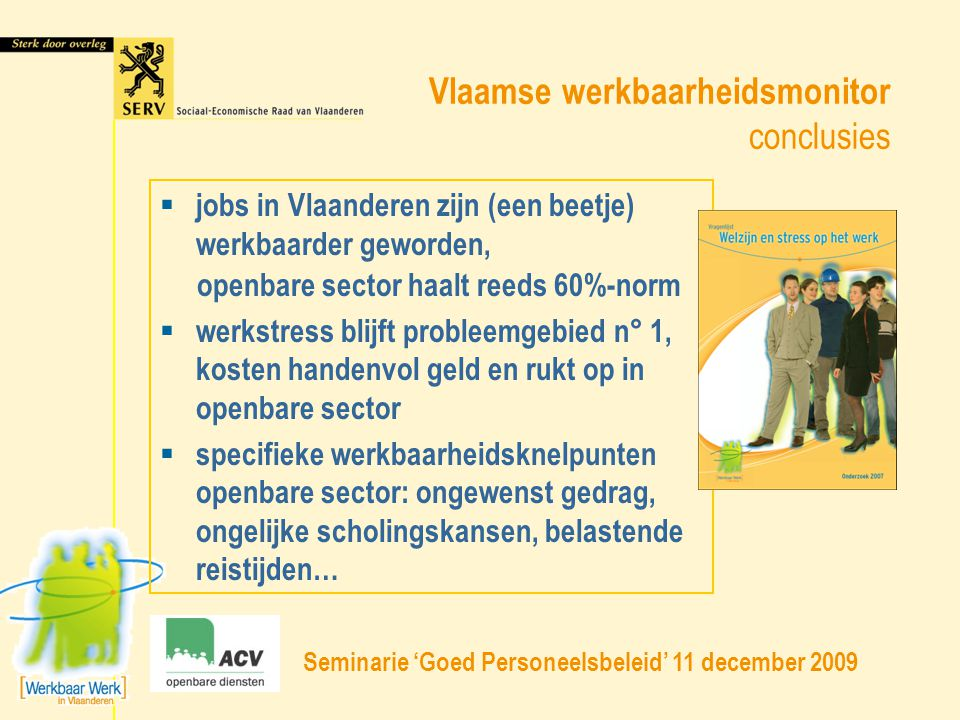 Vlaamse werkbaarheidsmonitor conclusies