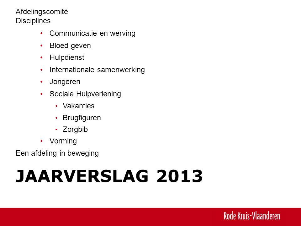 Jaarverslag 2013 Afdelingscomité Disciplines Communicatie en werving