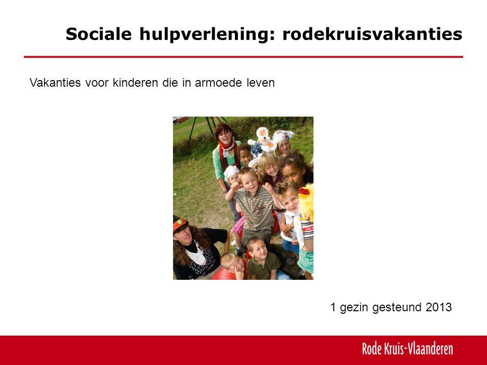 Sociale hulpverlening: rodekruisvakanties