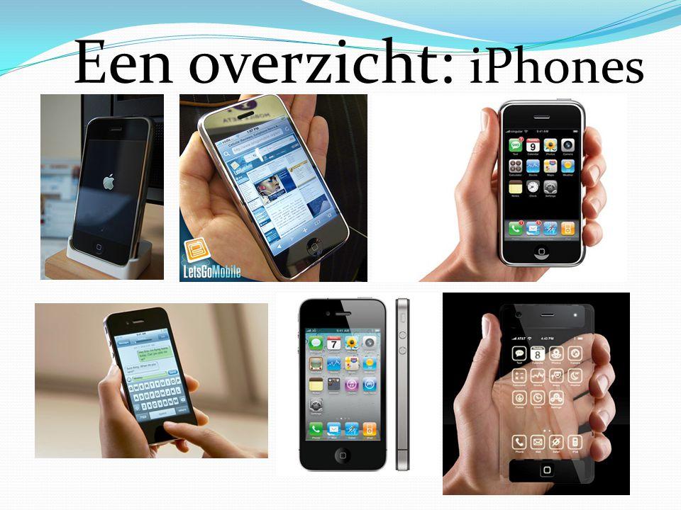 Een overzicht: iPhones