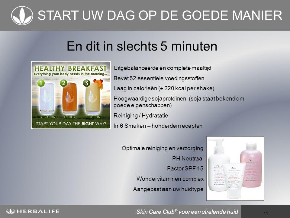 START UW DAG OP DE GOEDE MANIER