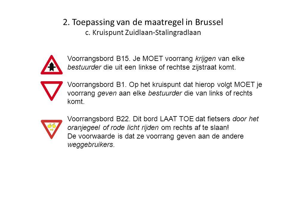 2. Toepassing van de maatregel in Brussel c