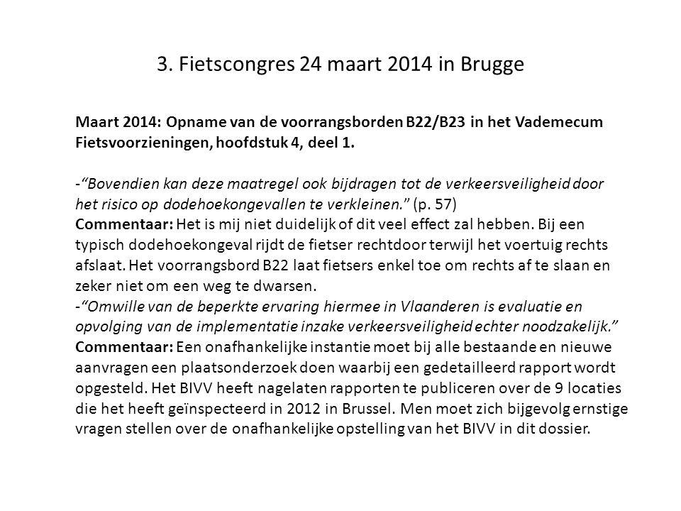 3. Fietscongres 24 maart 2014 in Brugge