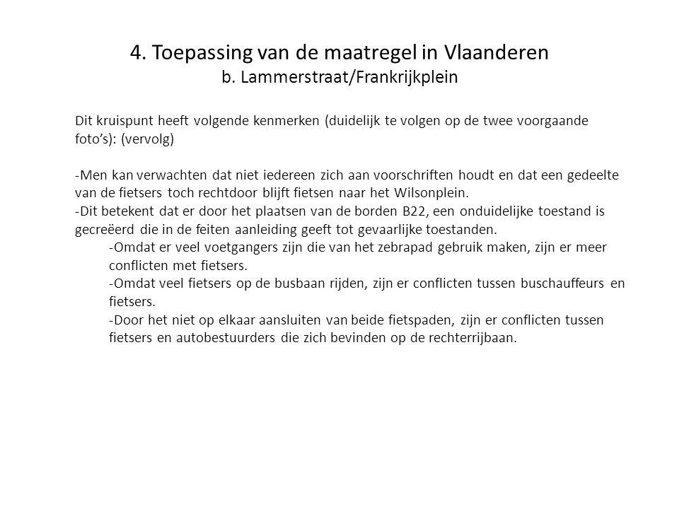 4. Toepassing van de maatregel in Vlaanderen b
