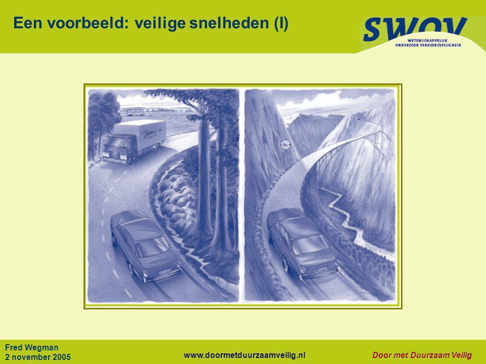 Een voorbeeld: veilige snelheden (I)