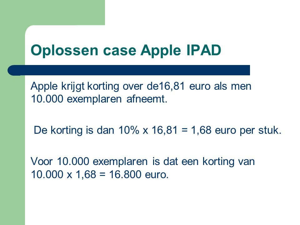 Oplossen case Apple IPAD