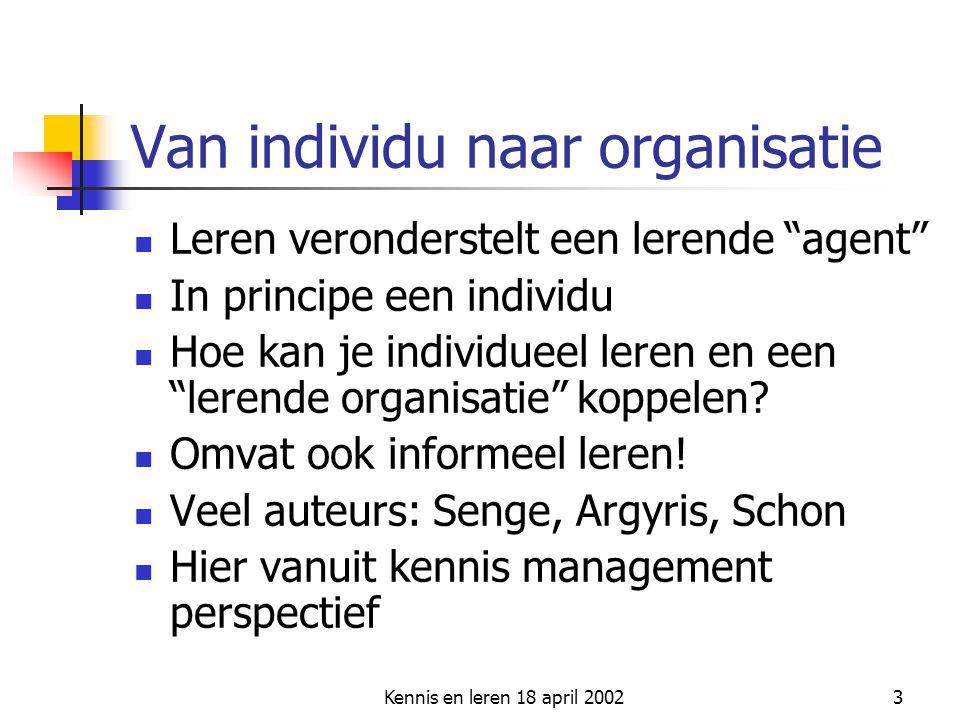 Van individu naar organisatie