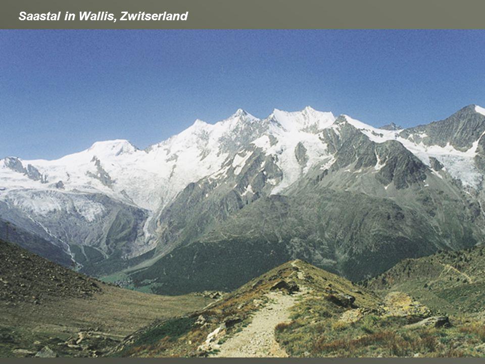 Saastal in Wallis, Zwitserland