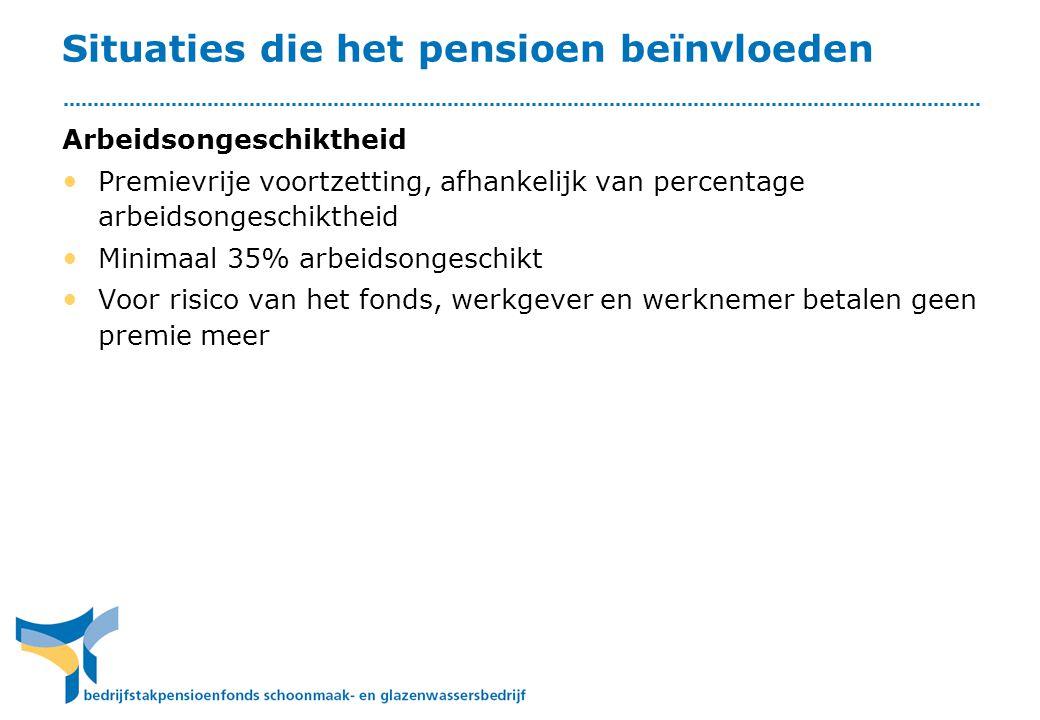 Situaties die het pensioen beïnvloeden
