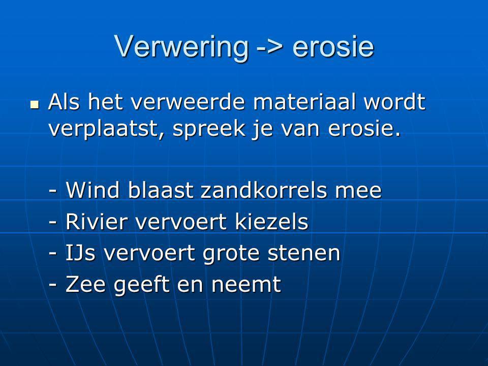Verwering -> erosie