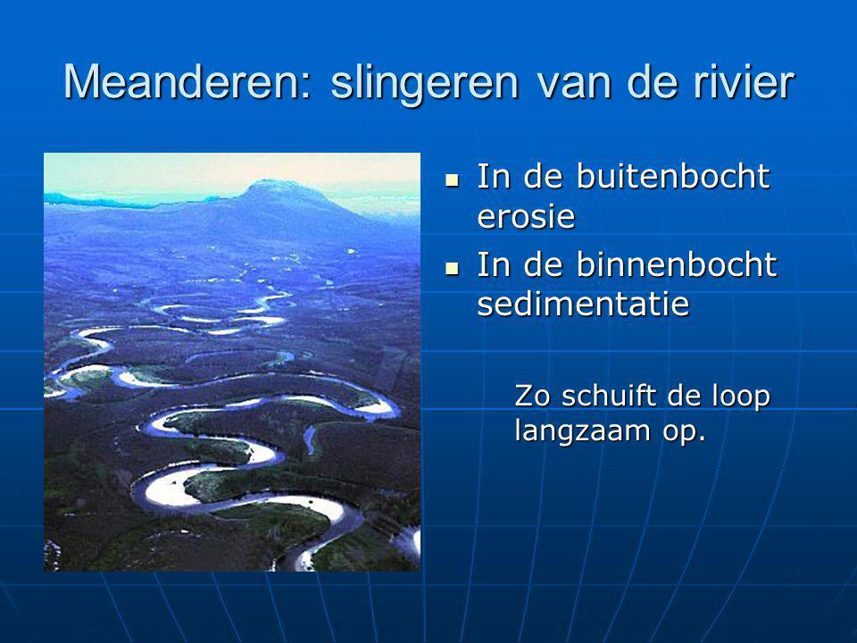 Meanderen: slingeren van de rivier