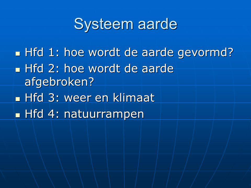 Systeem aarde Hfd 1: hoe wordt de aarde gevormd