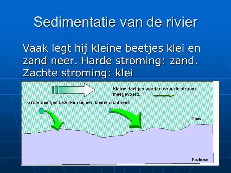 Sedimentatie van de rivier