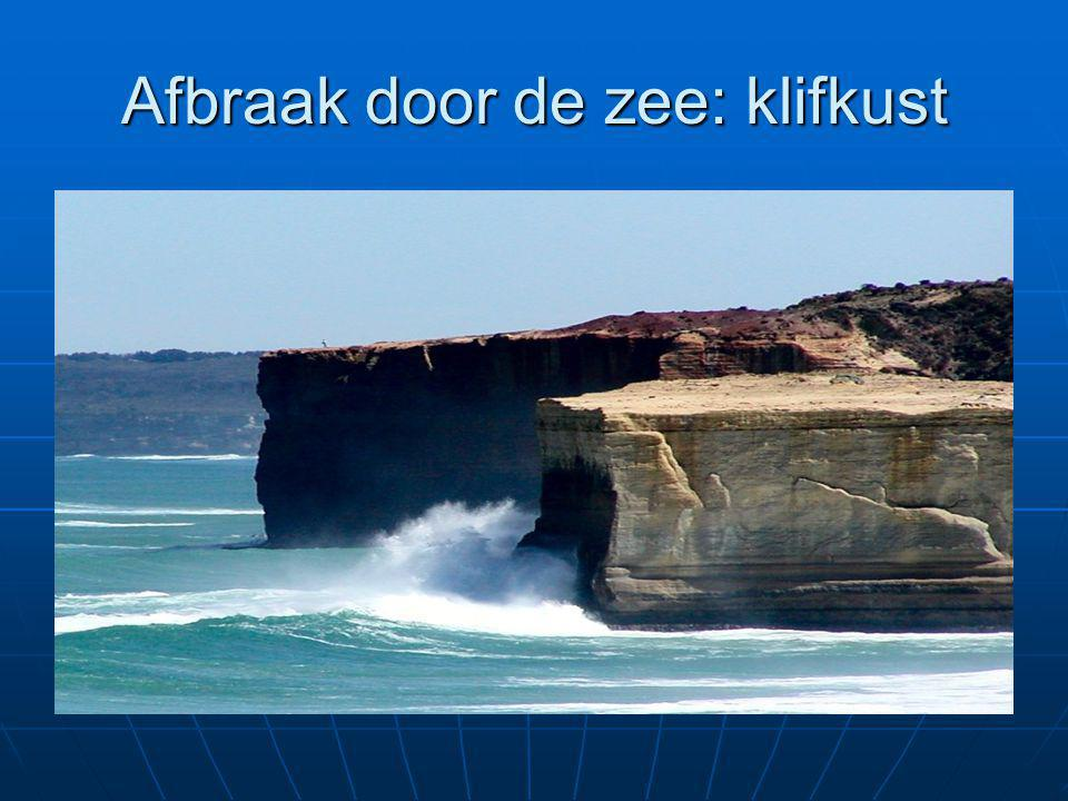 Afbraak door de zee: klifkust