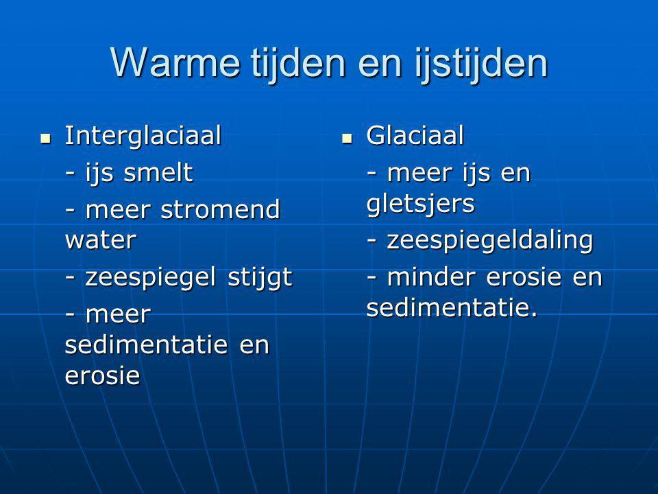 Warme tijden en ijstijden