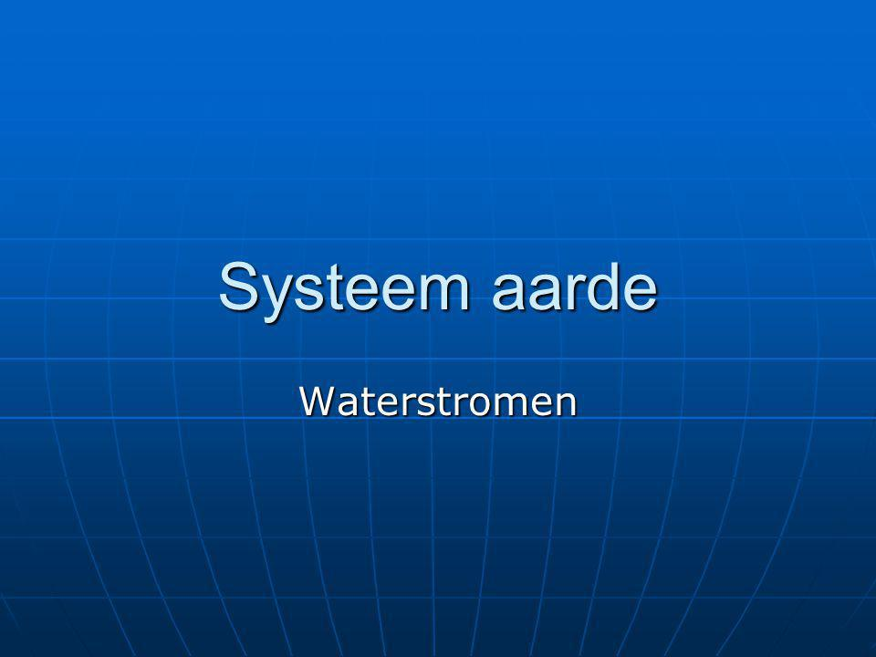Systeem aarde Waterstromen