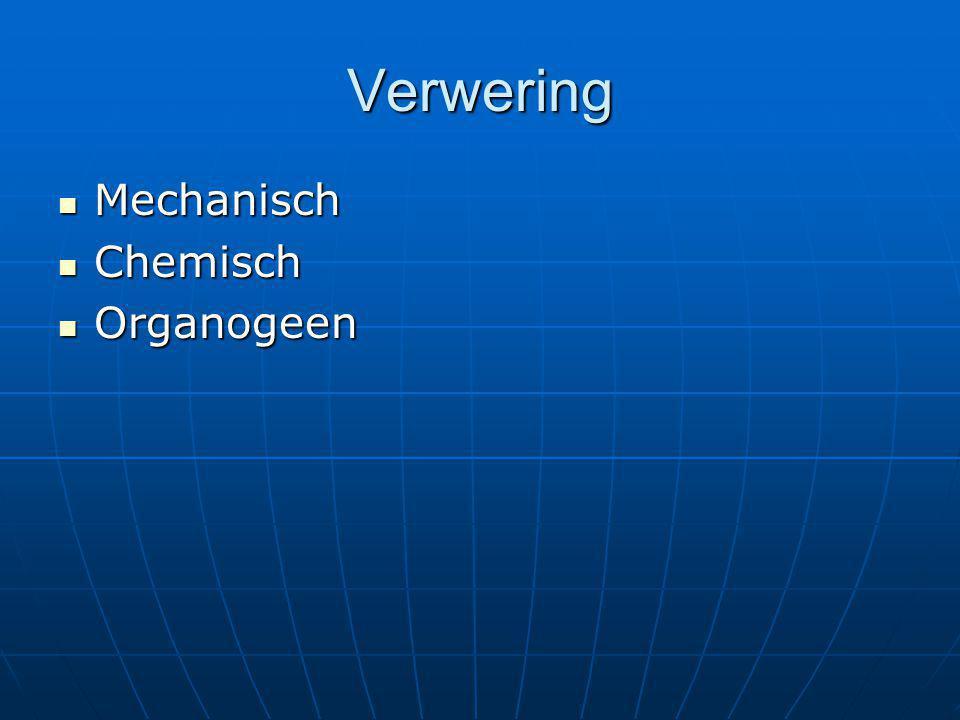 Verwering Mechanisch Chemisch Organogeen