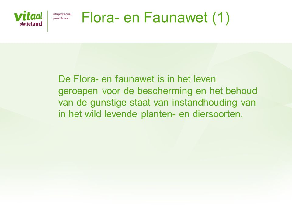 Flora- en Faunawet (1)