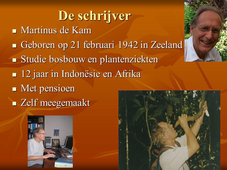De schrijver Martinus de Kam Geboren op 21 februari 1942 in Zeeland