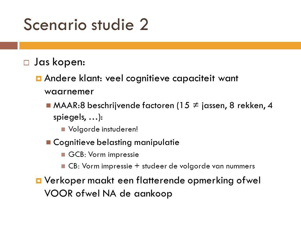 Scenario studie 2 Jas kopen: